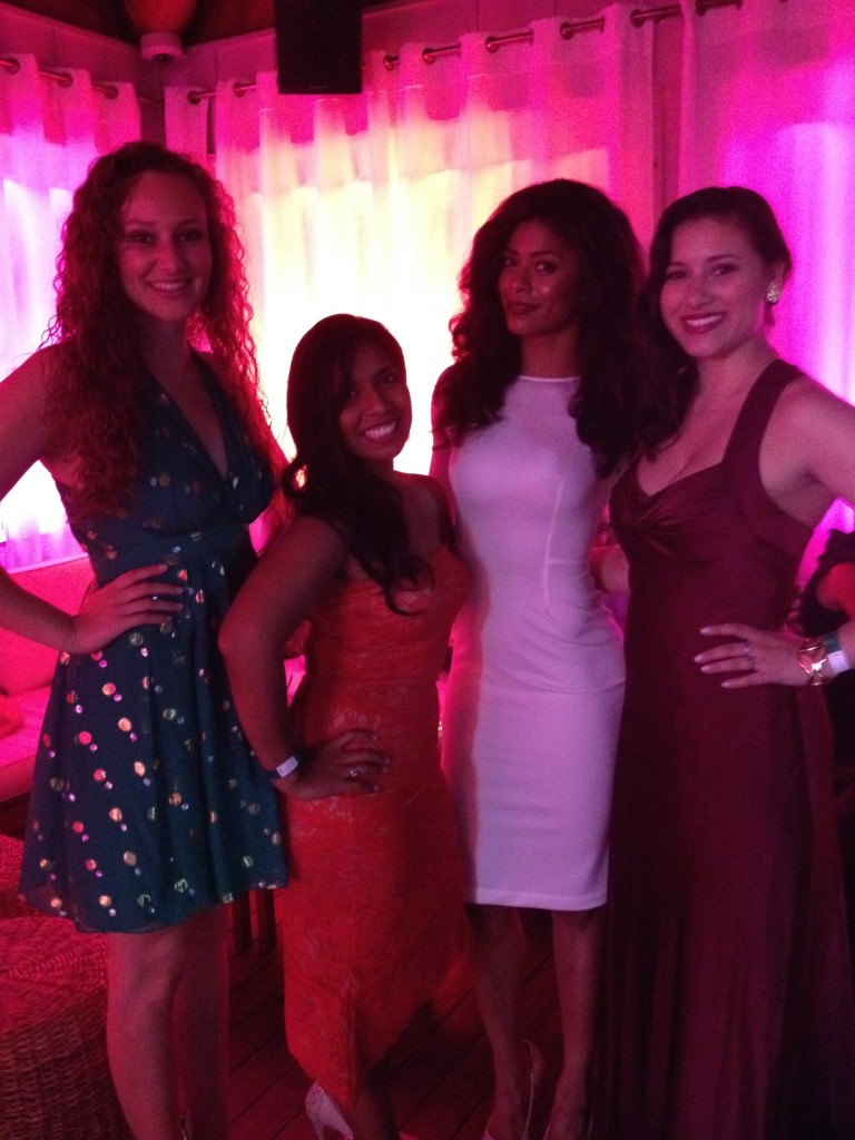 "My awesome date (my sister Amanda), Natalia Anciso, Massiel ""Mankofit"" Arias and I"