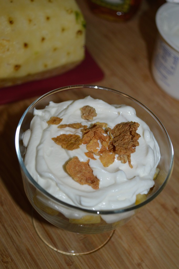 Top with more yogurt and granola cereal