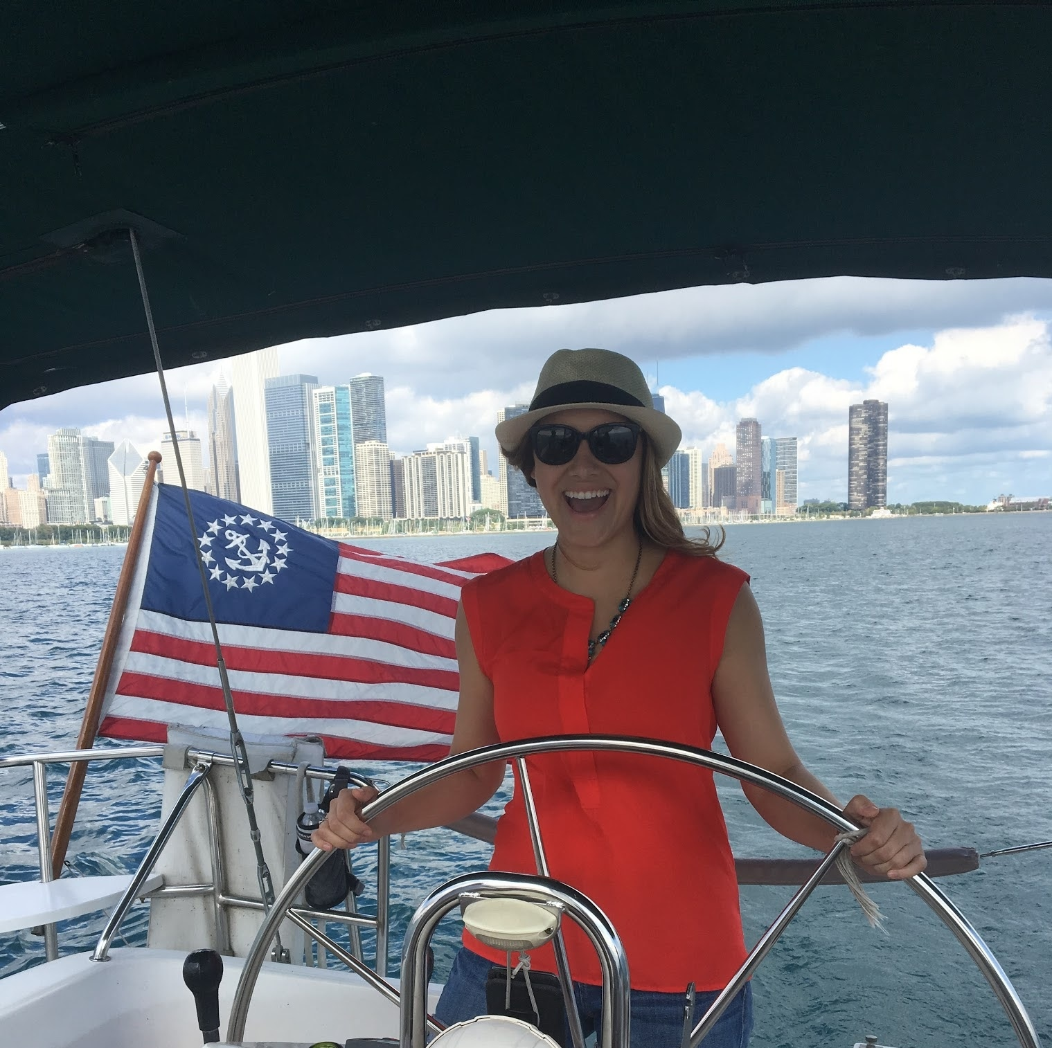 Healthy Latina Sailing