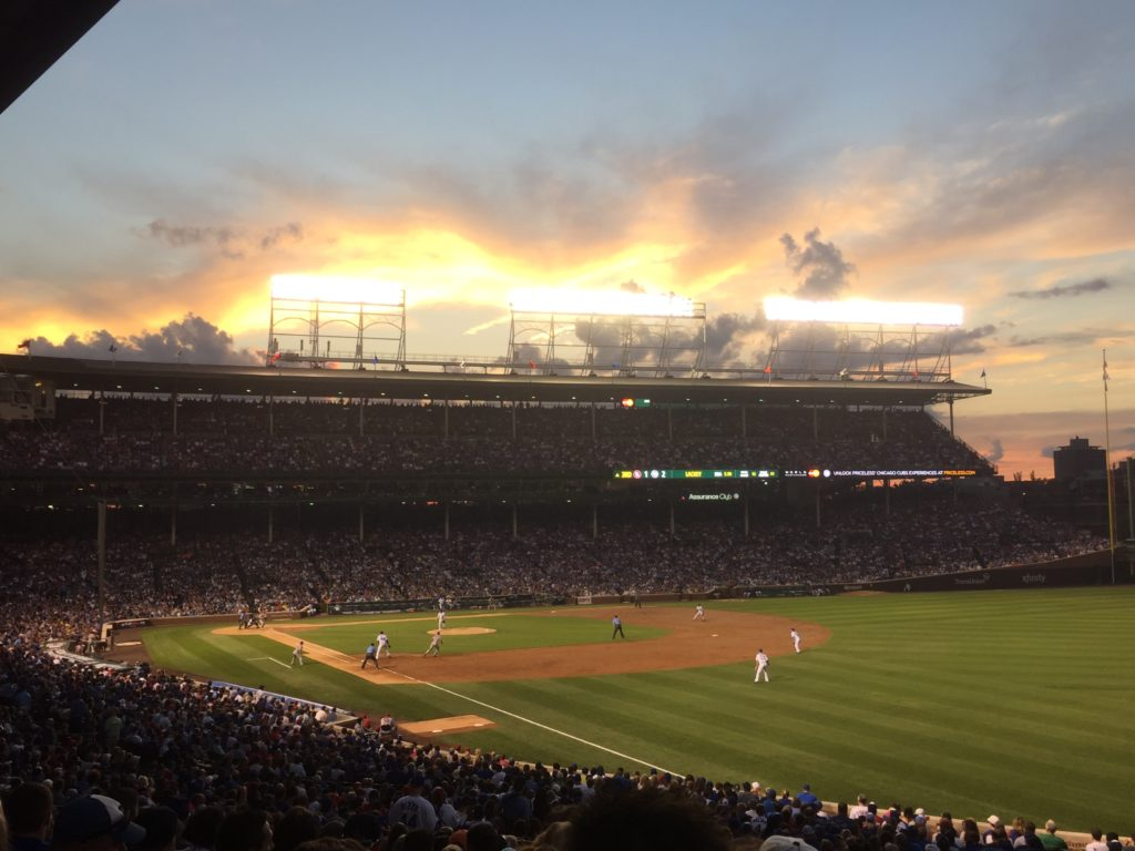 Wrigley Field Sunset